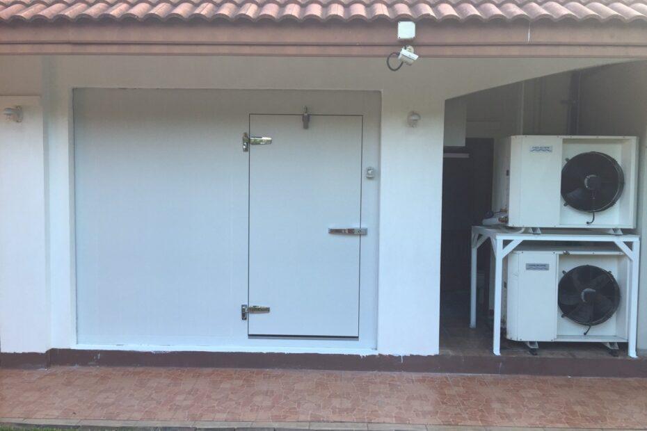 ผนังห้องเย็น isowall polyurethane pu ประตูห้องเย็น door condensing unit